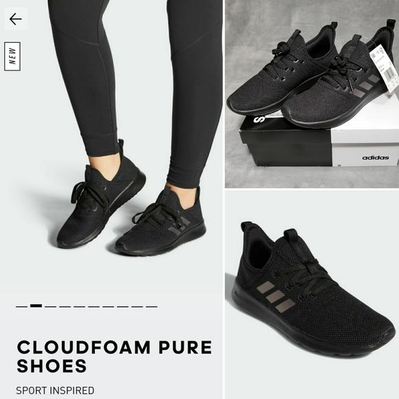 Adidas Cloudfoam Pure Black Iridescent